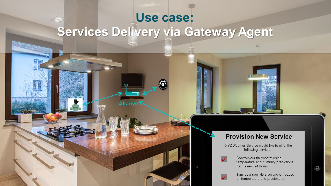 Use case: Services Delivery via Gateway Agent