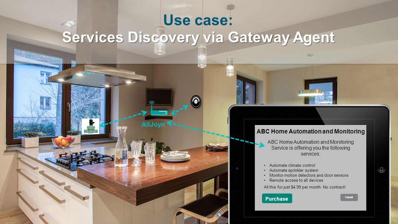 Use case: Services Discovery via Gateway Agent