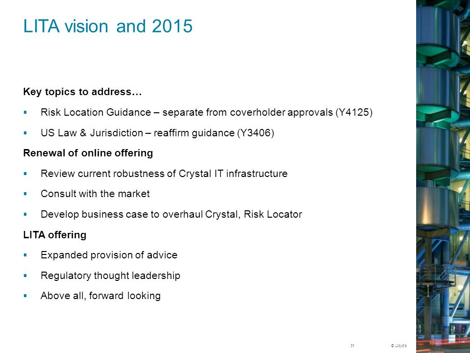 LITA vision and 2015 Key topics to address…