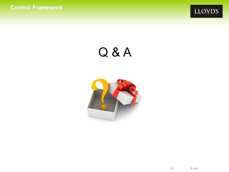 Control Framework Q & A