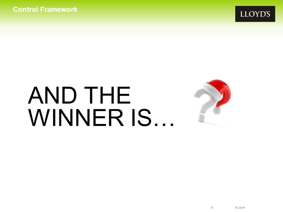 Control Framework AND THE WINNER IS…
