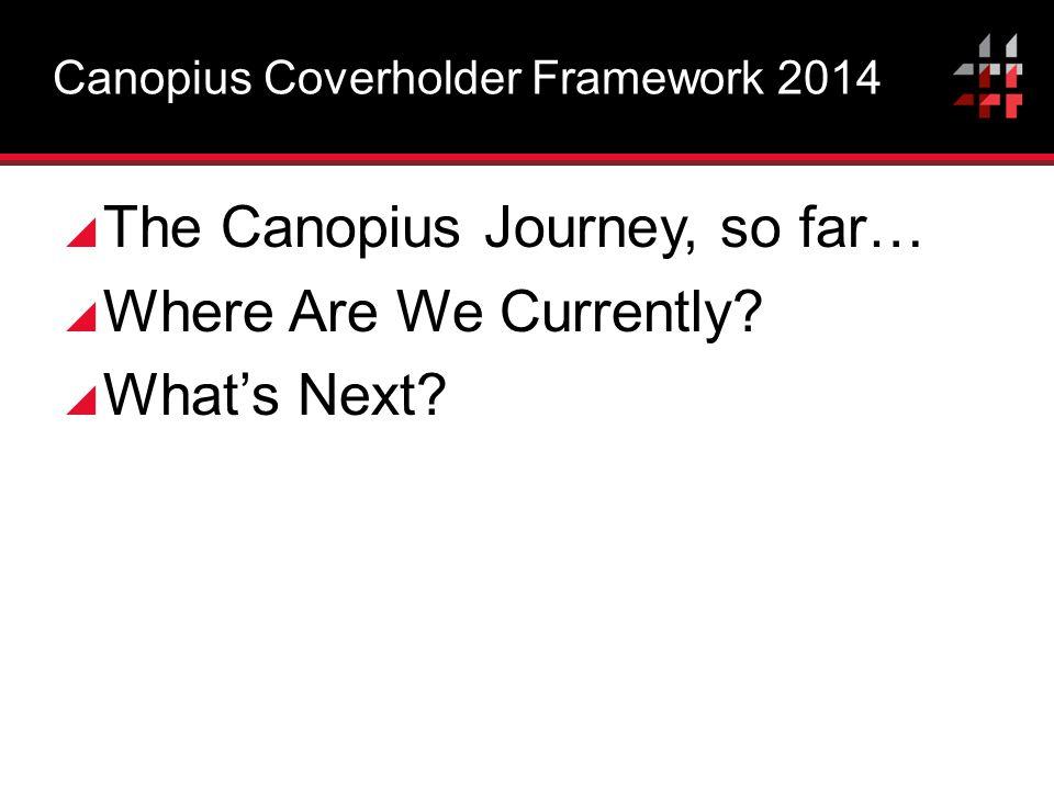 Canopius Coverholder Framework 2014