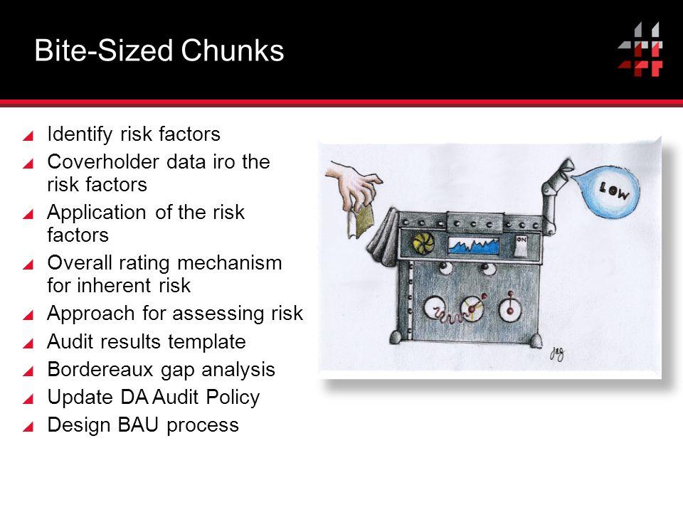 Bite-Sized Chunks Identify risk factors