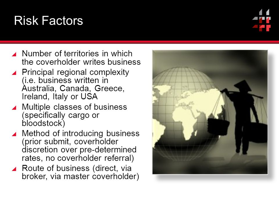 Risk Factors Number of territories in which the coverholder writes business.