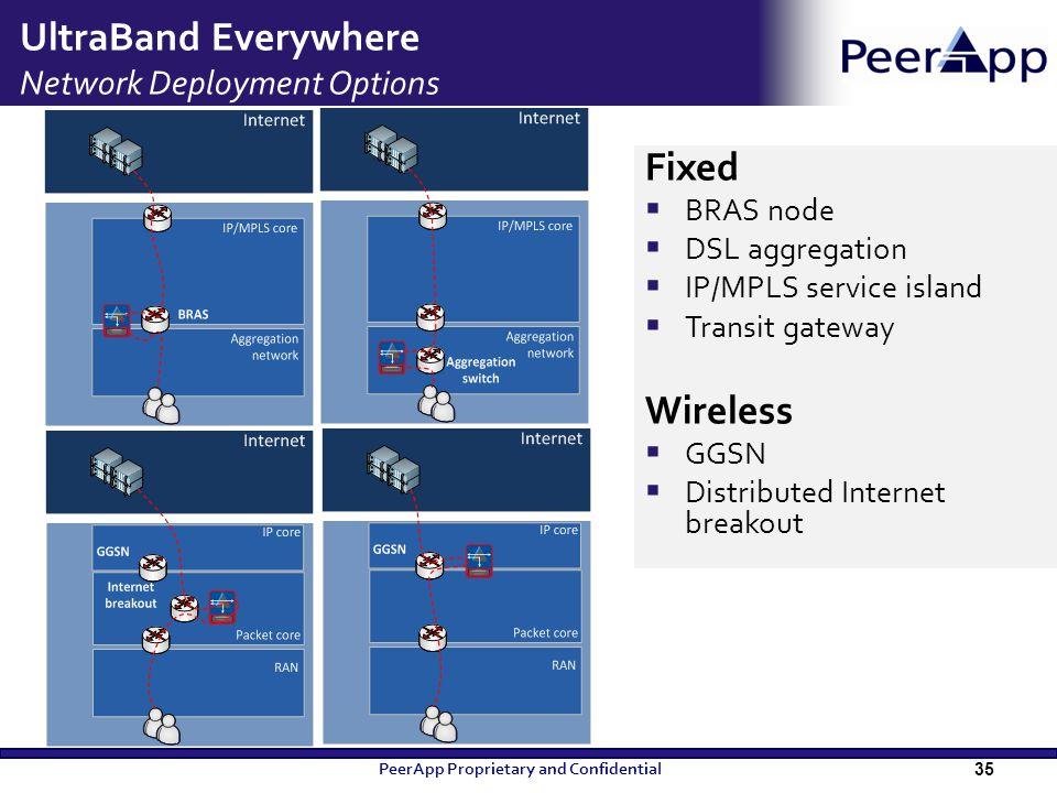 UltraBand Everywhere Network Deployment Options