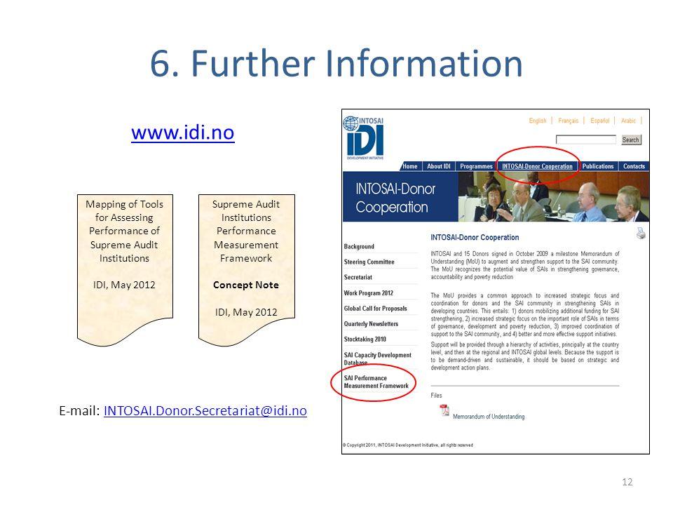 6. Further Information www.idi.no