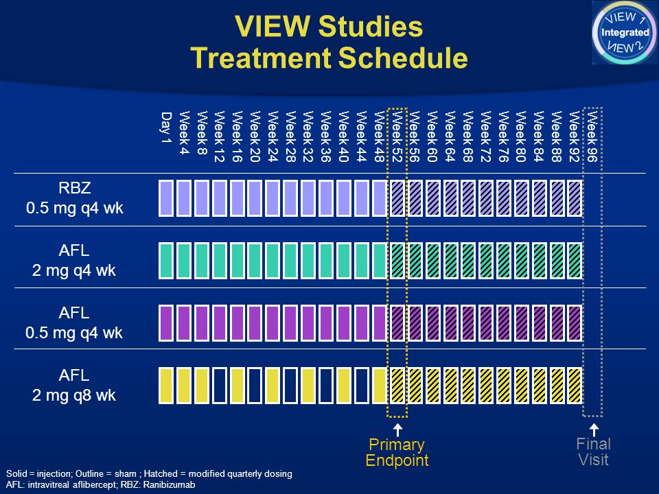 VIEW Studies Treatment Schedule