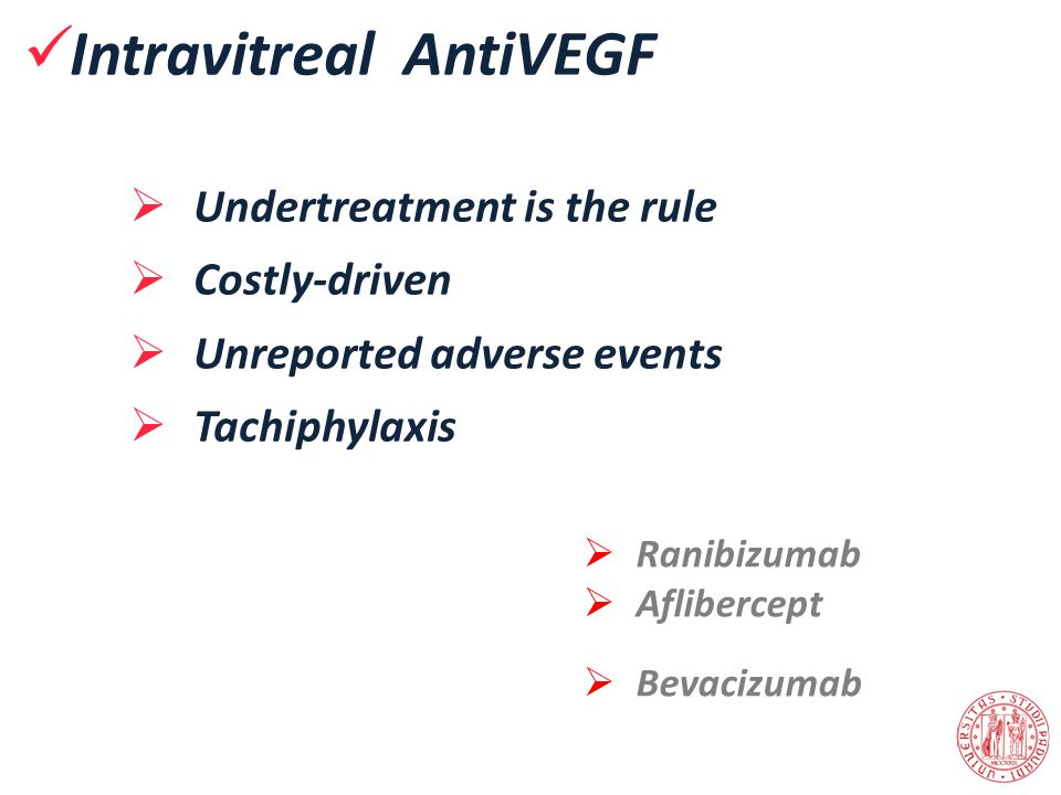 Intravitreal AntiVEGF