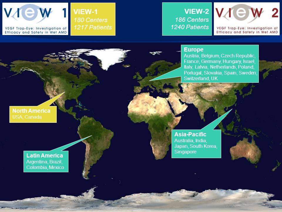 VIEW-1 VIEW-2 180 Centers 186 Centers 1217 Patients 1240 Patients
