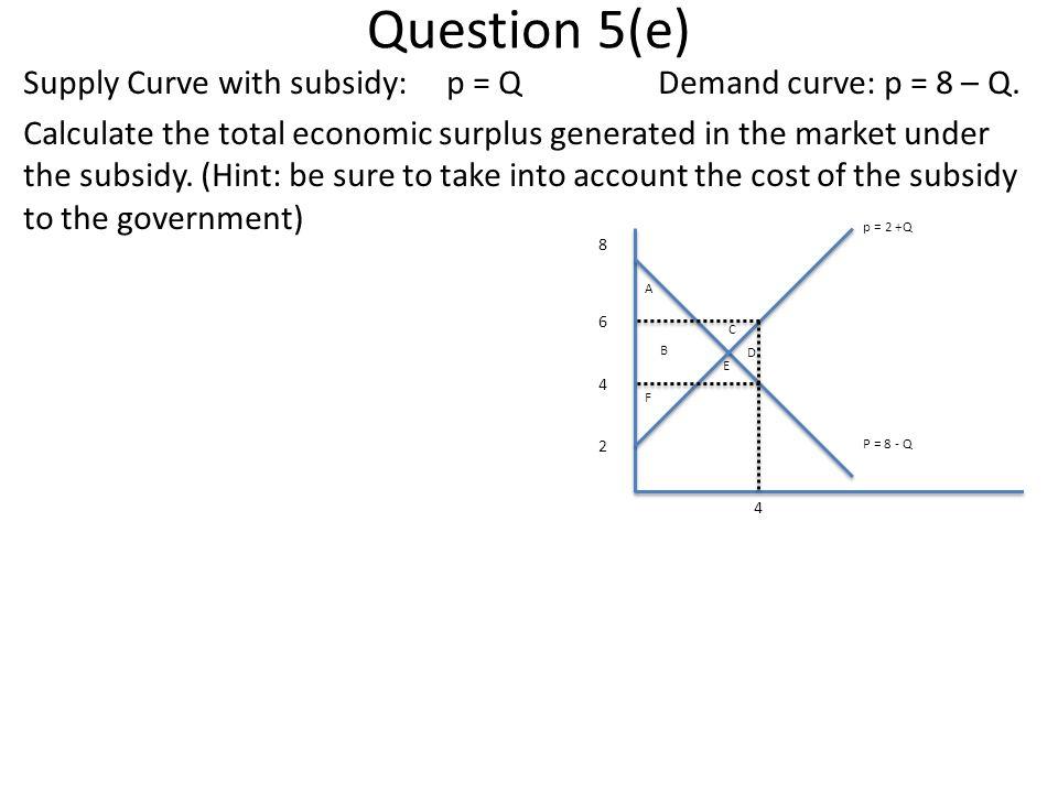 Question 5(e)