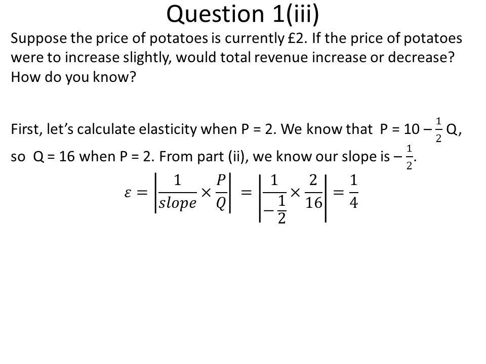 Question 1(iii)