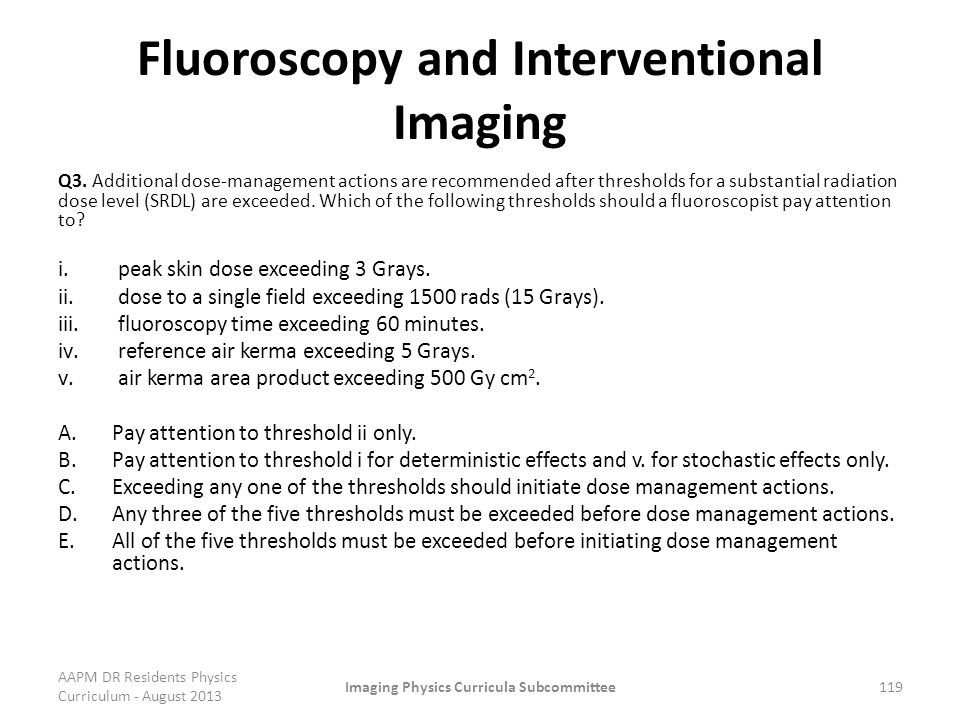 Fluoroscopy and Interventional Imaging