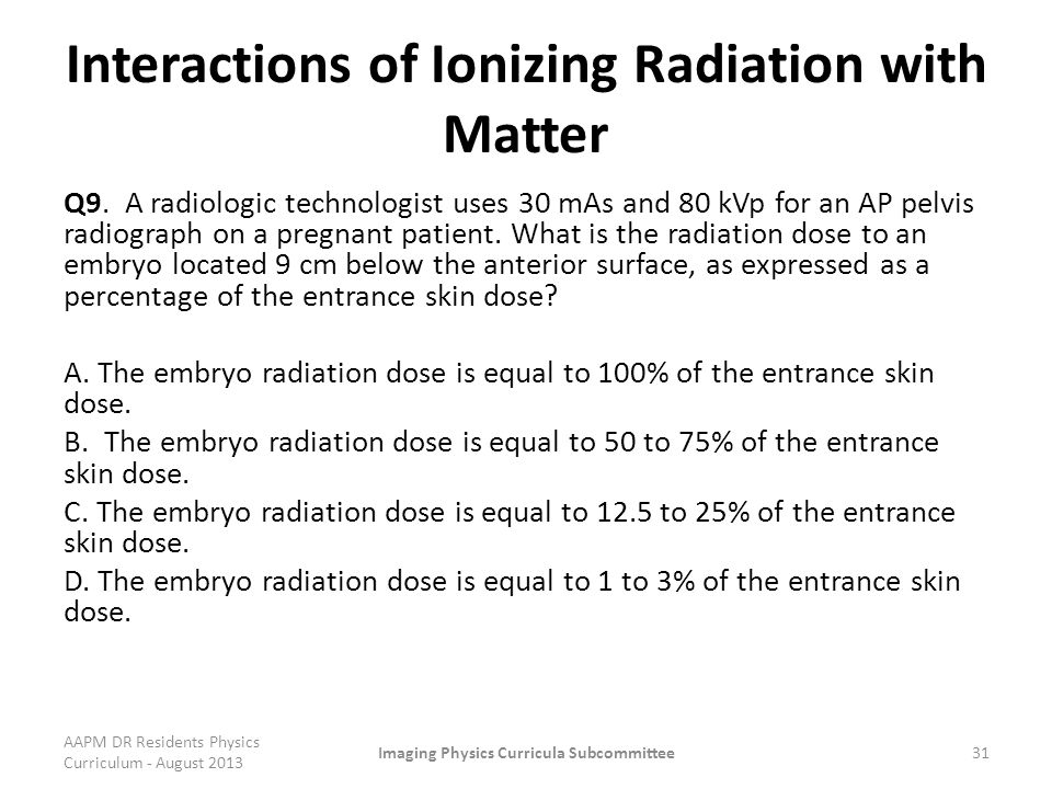 Interactions of Ionizing Radiation with Matter