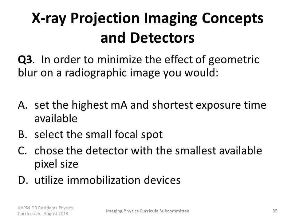 X-ray Projection Imaging Concepts and Detectors