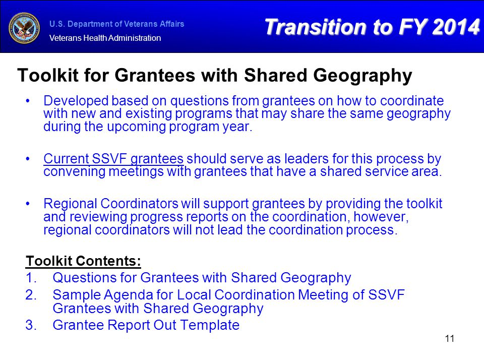 Toolkit for Grantees with Shared Geography