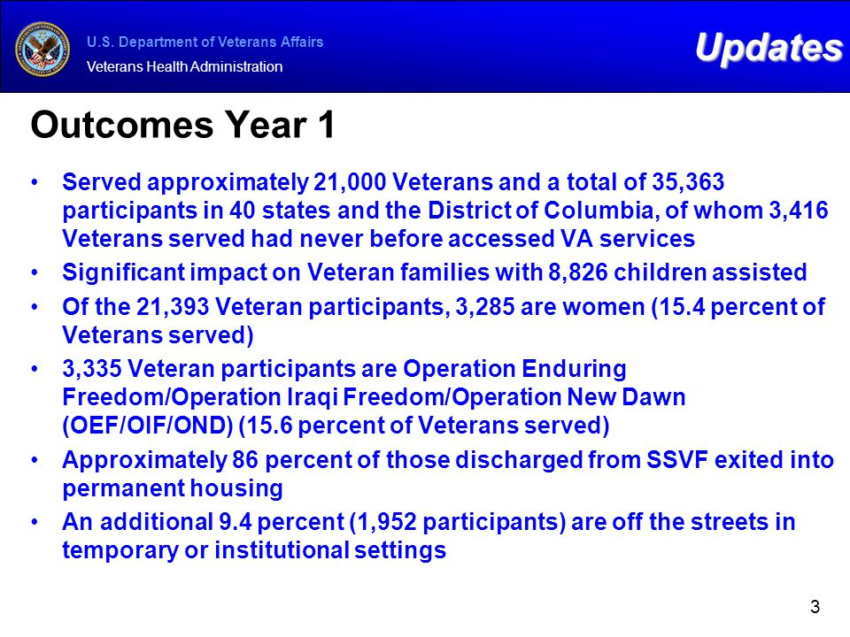 Updates Outcomes Year 1.