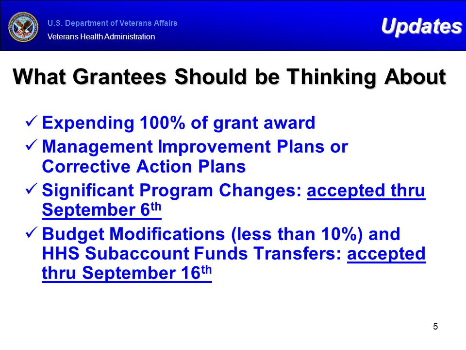 What Grantees Should be Thinking About