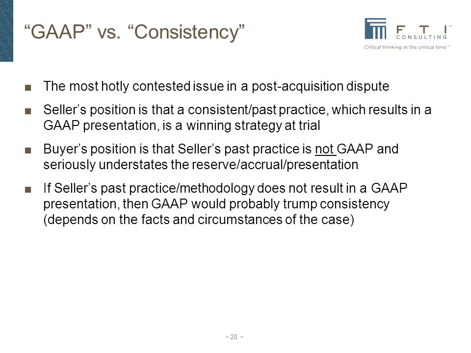 GAAP vs. Consistency