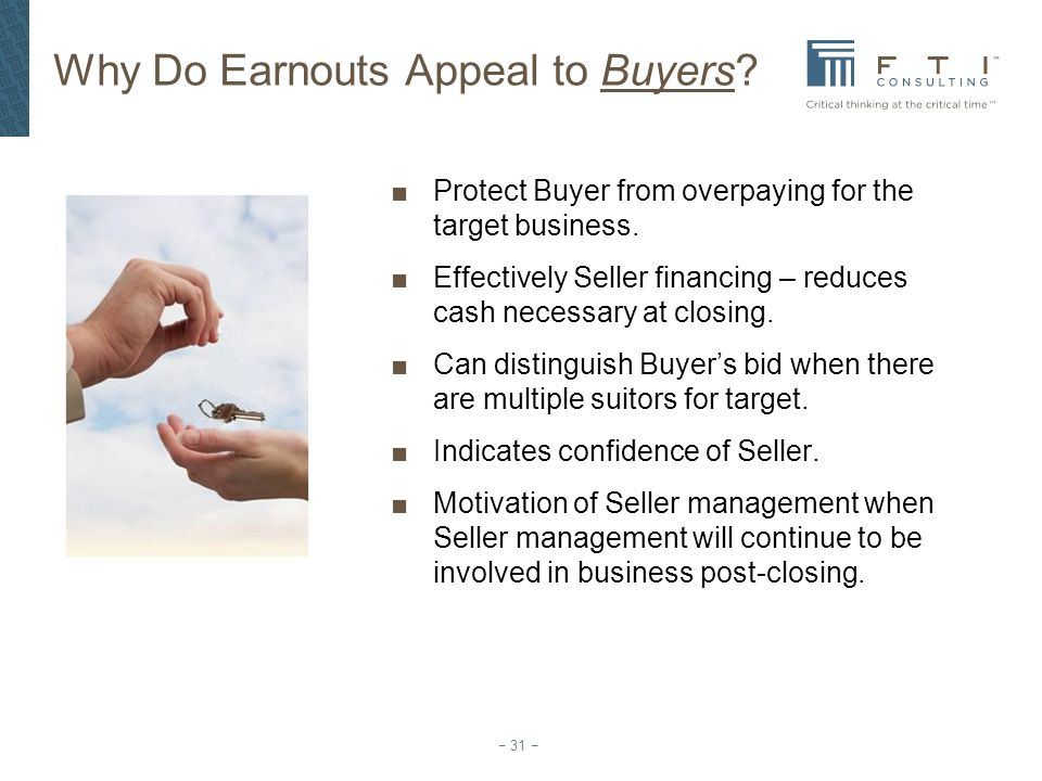 Why Do Earnouts Appeal to Buyers