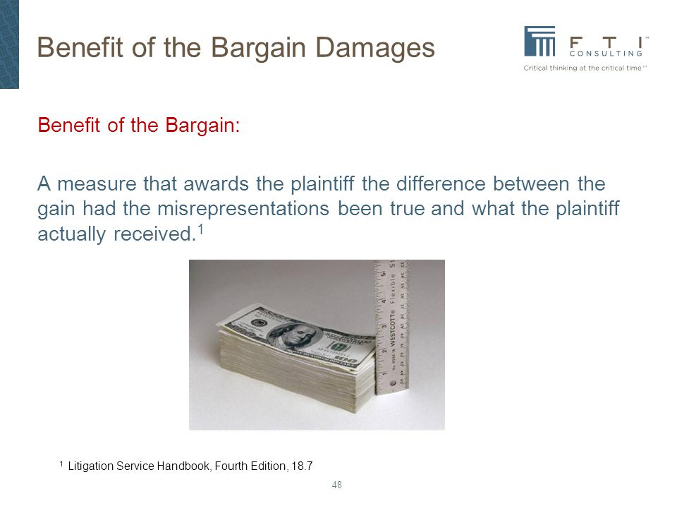 Benefit of the Bargain Damages