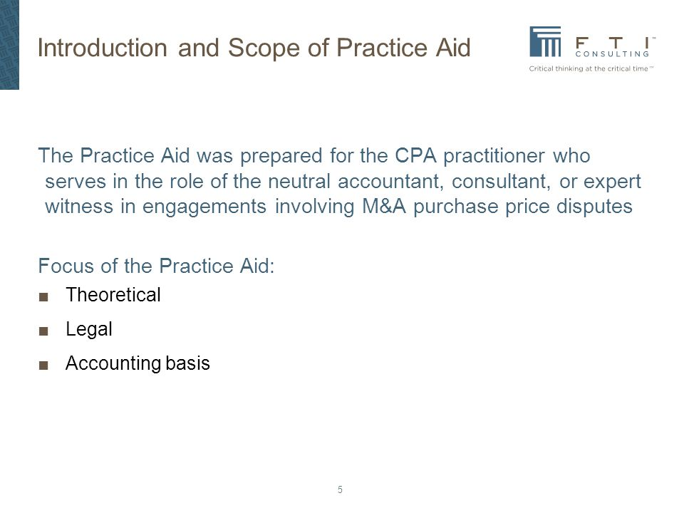 Introduction and Scope of Practice Aid