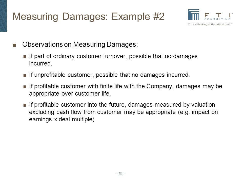 Measuring Damages: Example #2