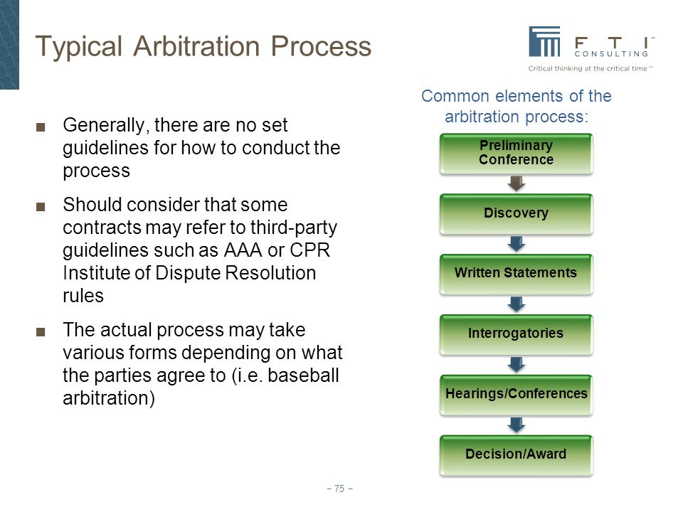 Typical Arbitration Process