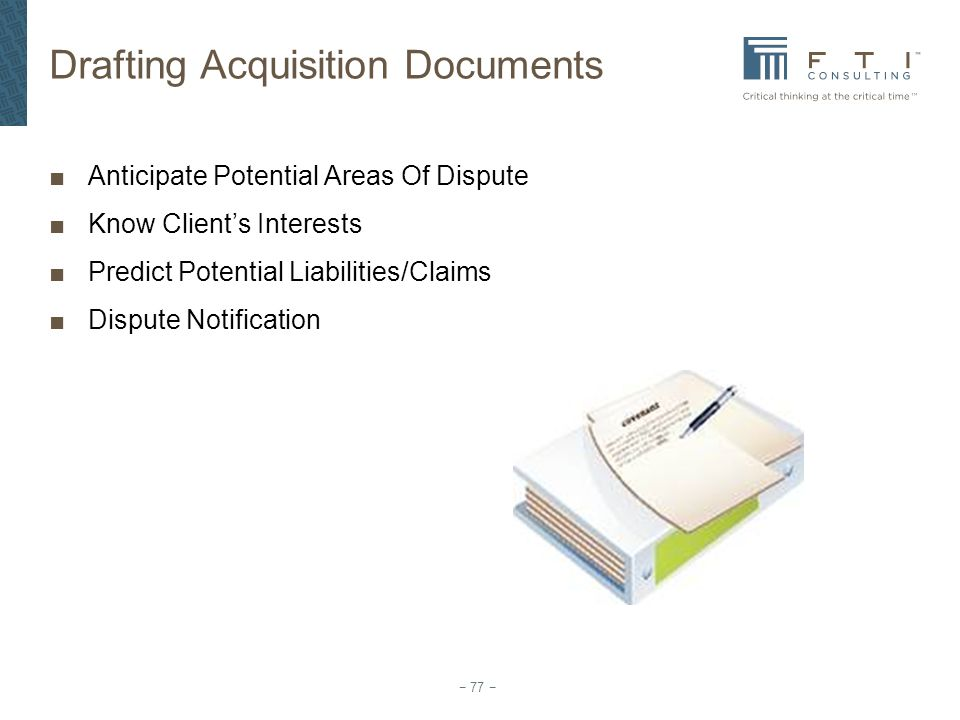 Drafting Acquisition Documents