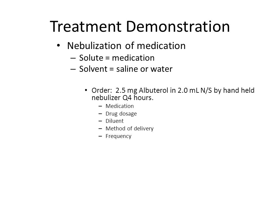 Treatment Demonstration