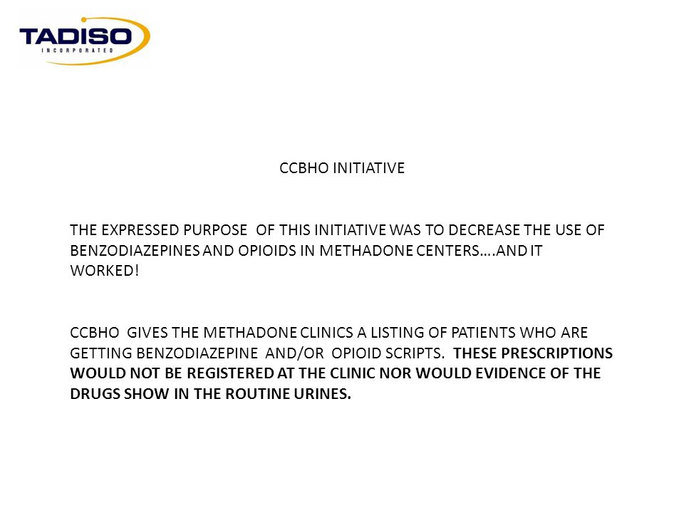 CCBHO INITIATIVE