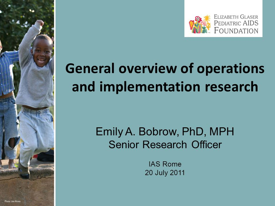 General overview of operations and implementation research