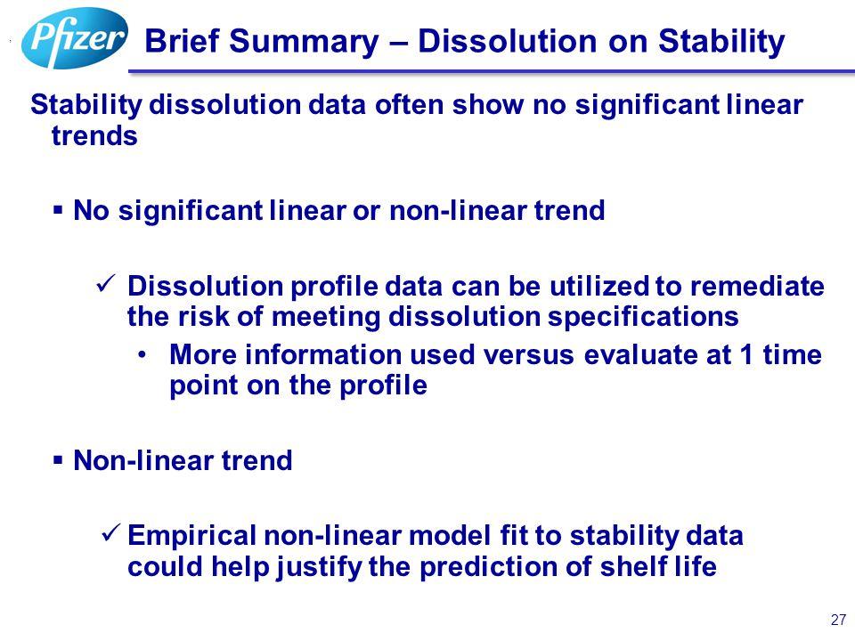 Brief Summary – Dissolution on Stability