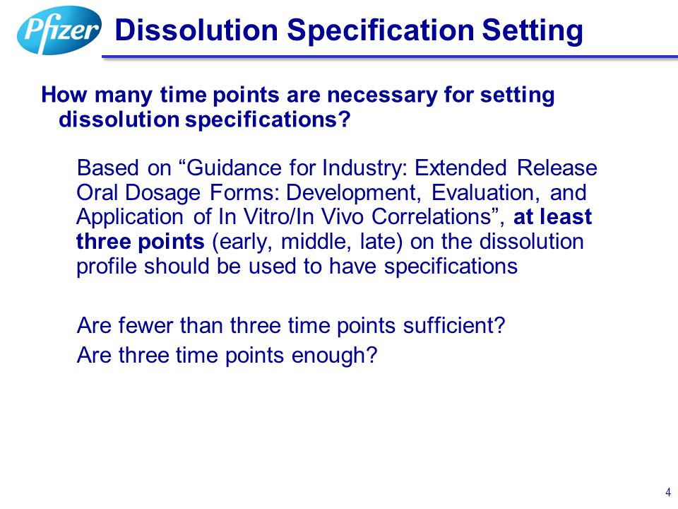Dissolution Specification Setting