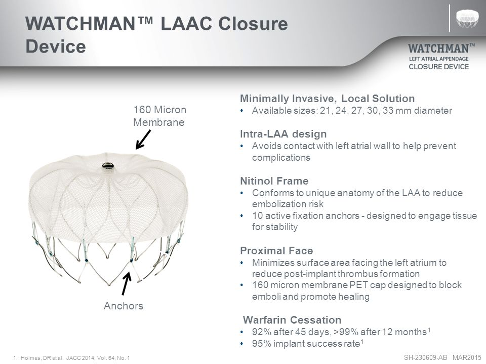 WATCHMAN™ LAAC Closure Device