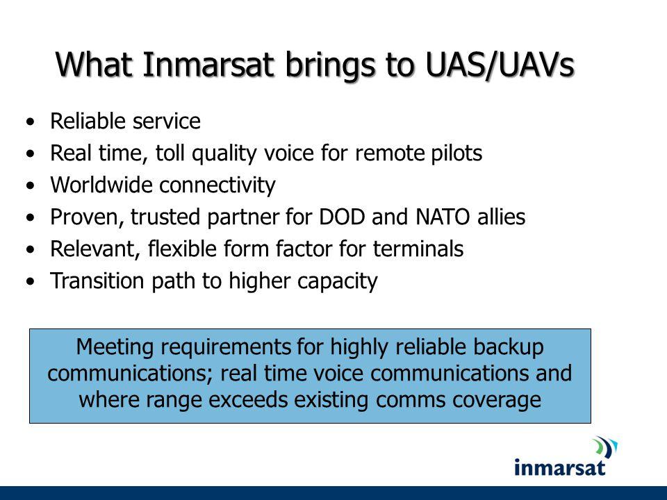 What Inmarsat brings to UAS/UAVs