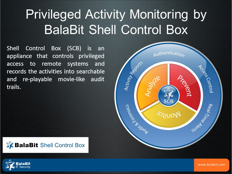 Privileged Activity Monitoring by BalaBit Shell Control Box