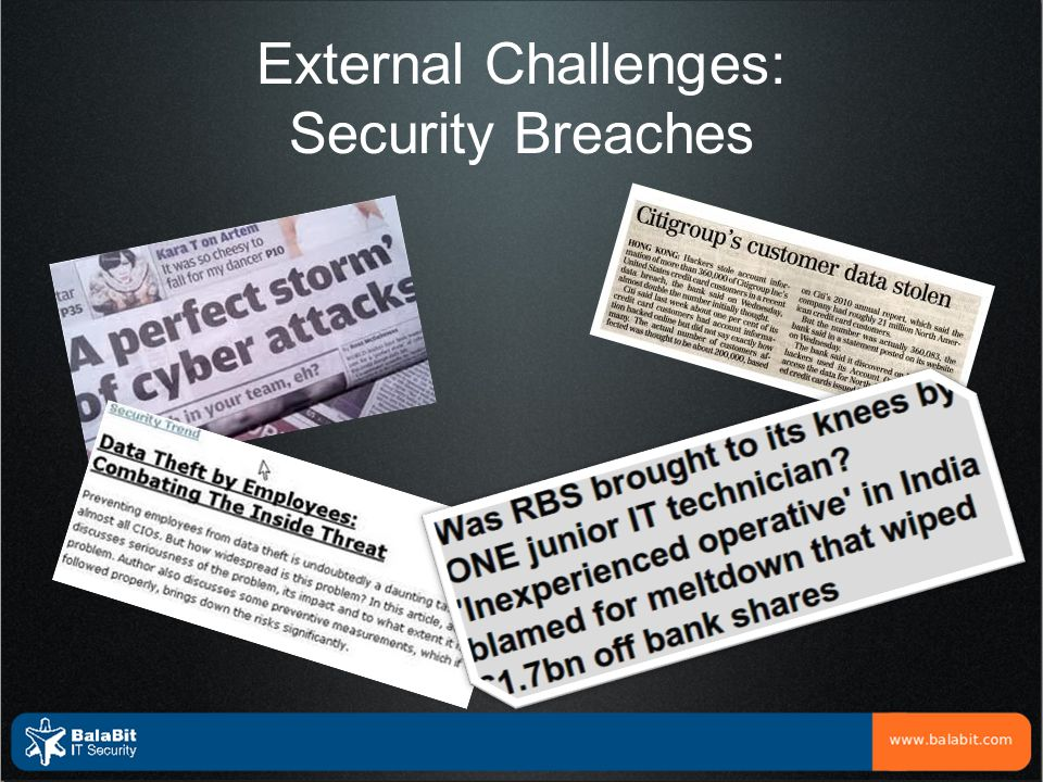 External Challenges: Security Breaches