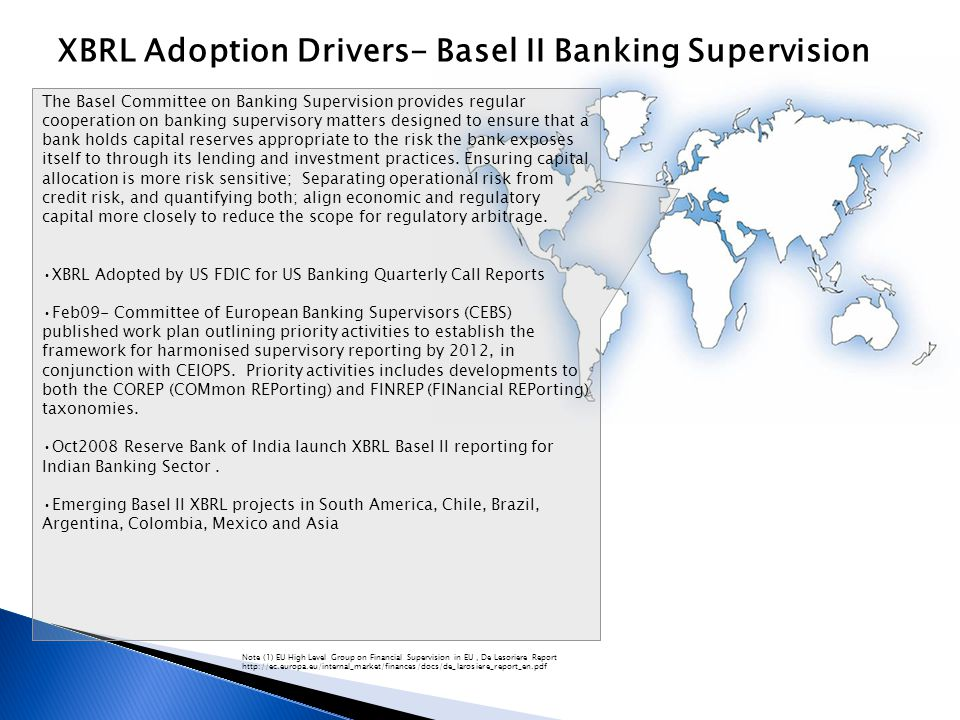 XBRL Adoption Drivers- Basel II Banking Supervision