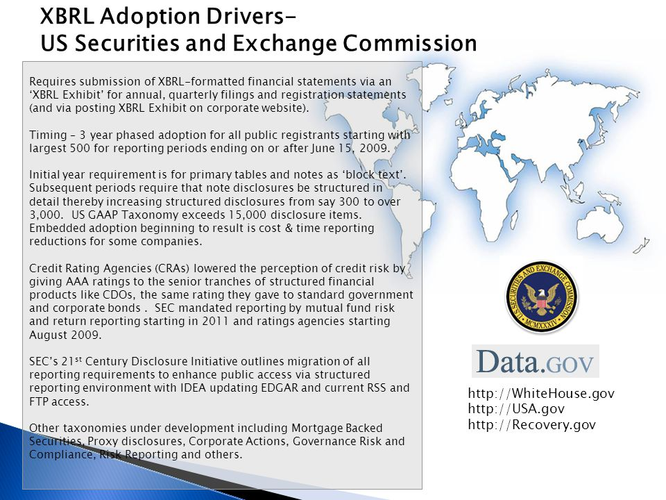 XBRL Adoption Drivers- US Securities and Exchange Commission