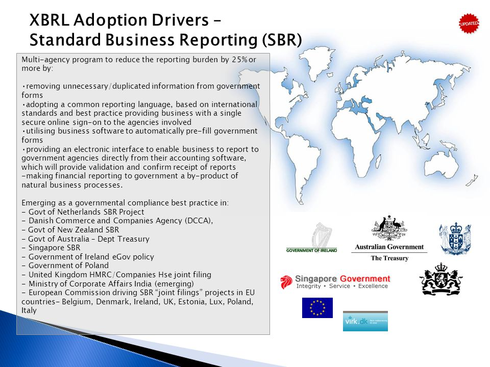 XBRL Adoption Drivers – Standard Business Reporting (SBR)