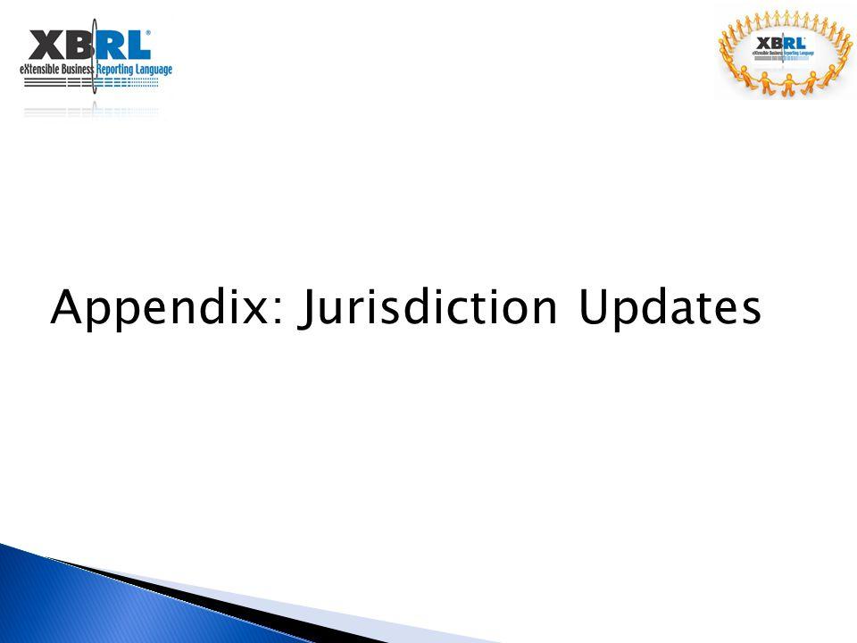 Appendix: Jurisdiction Updates