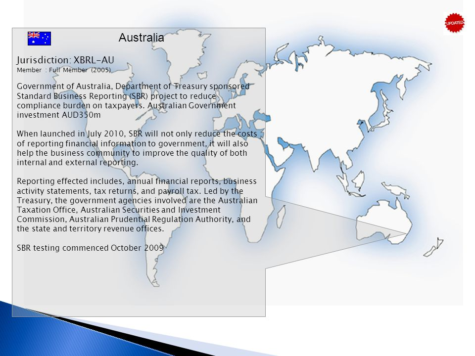 Australia Jurisdiction: XBRL-AU