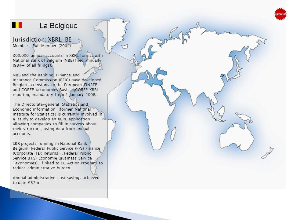 La Belgique Jurisdiction: XBRL-BE Member : Full Member (2004)
