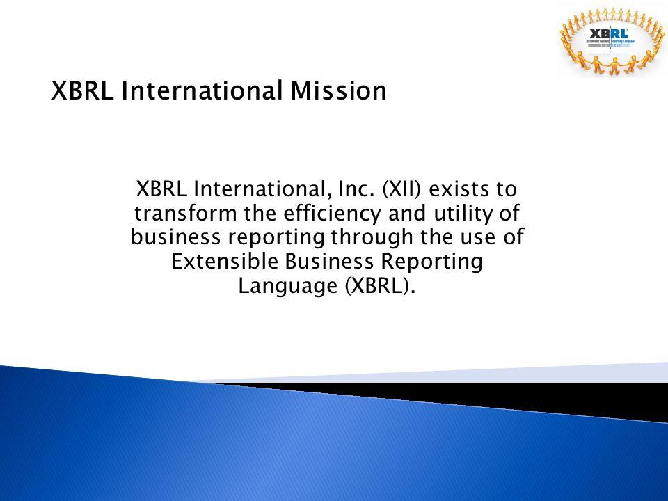 XBRL International Mission