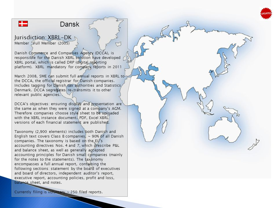 Dansk Jurisdiction: XBRL-DK Member : Full Member (2005)