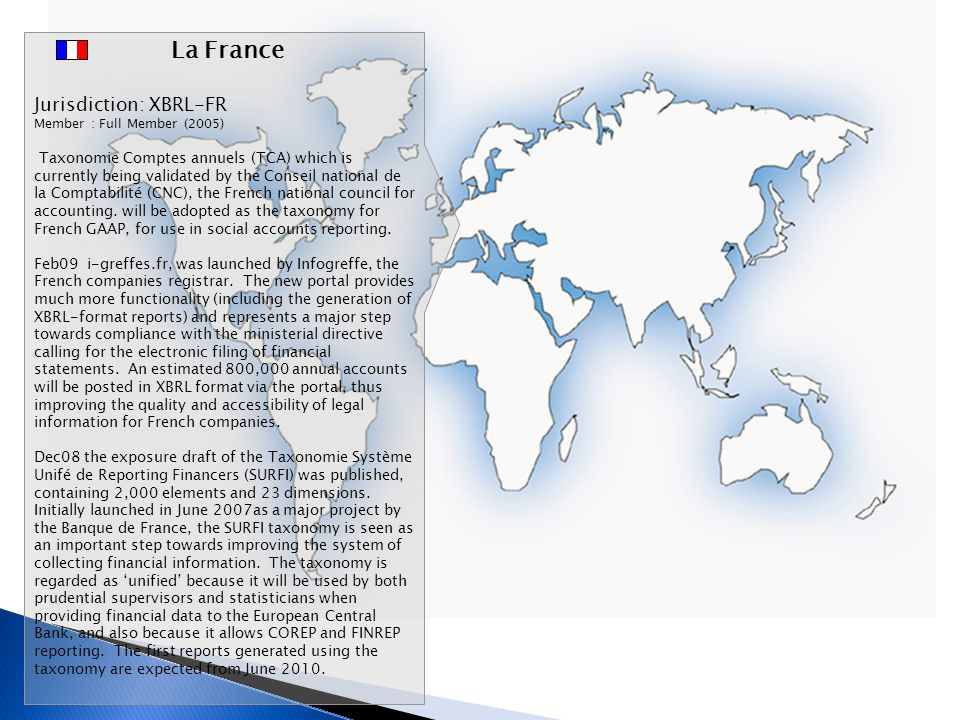 La France Jurisdiction: XBRL-FR