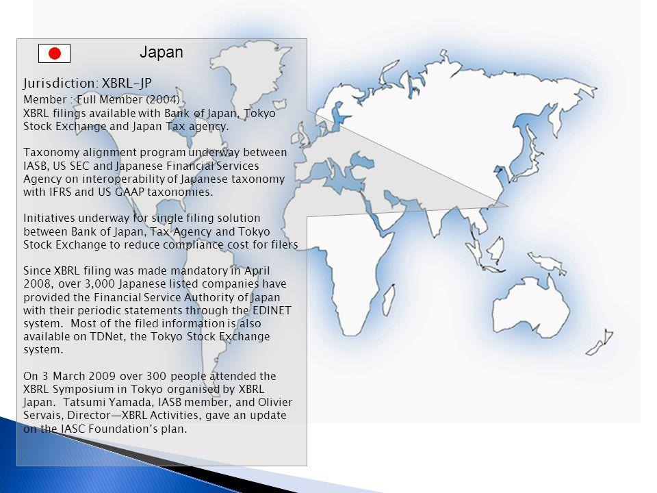 Japan Jurisdiction: XBRL-JP Member : Full Member (2004)