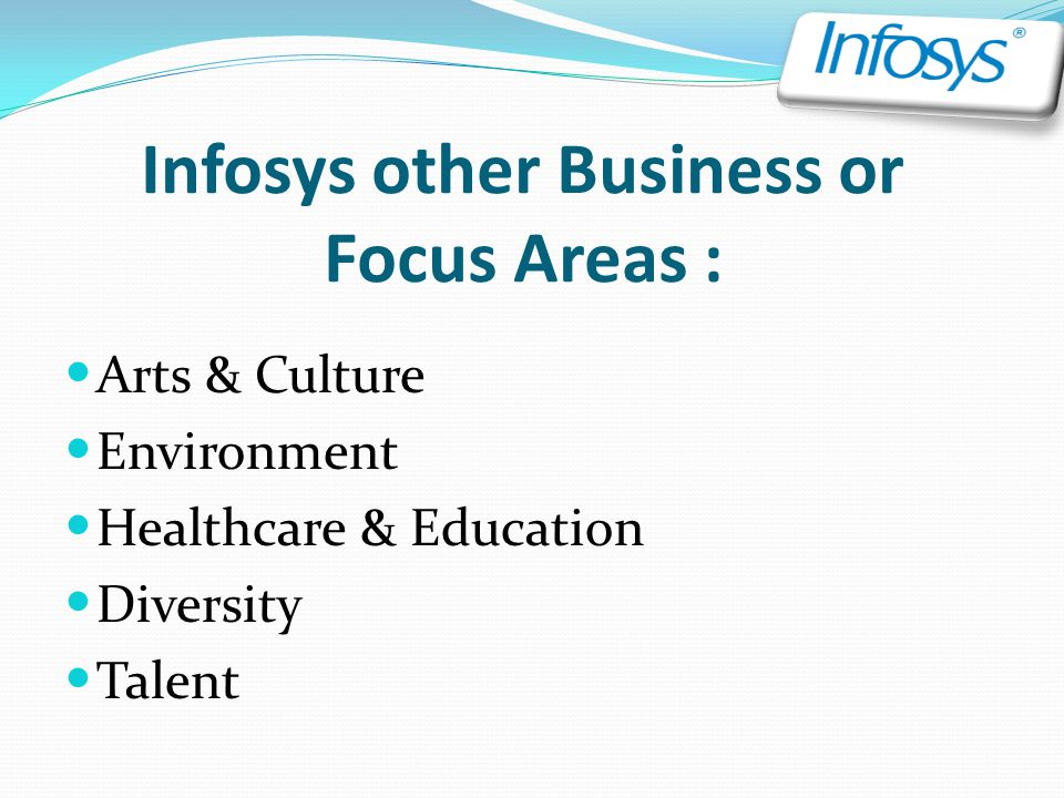 Infosys other Business or Focus Areas :