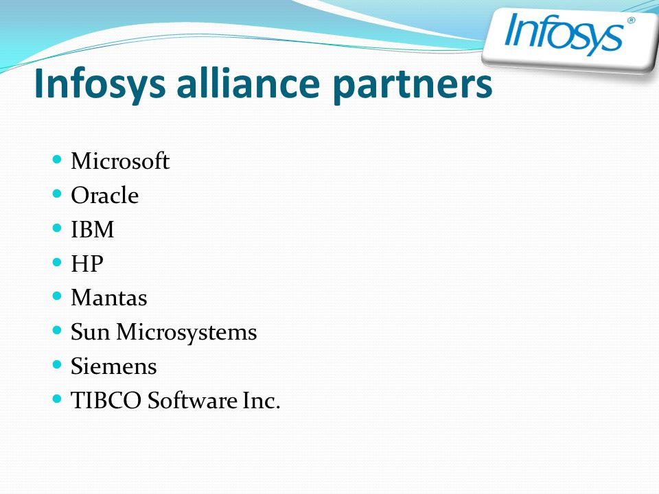 Infosys alliance partners