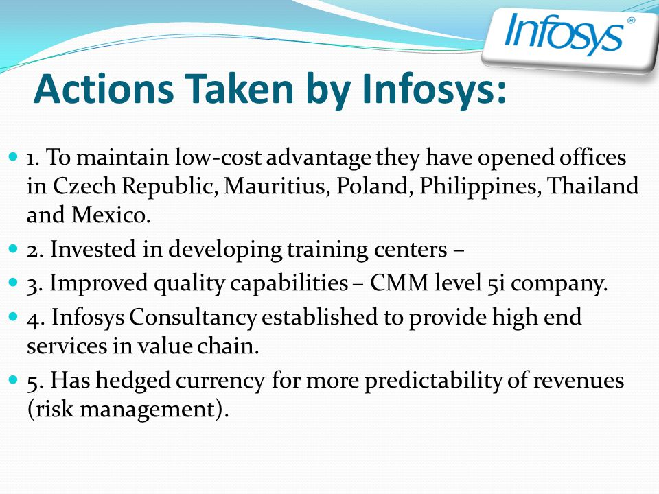 Actions Taken by Infosys: